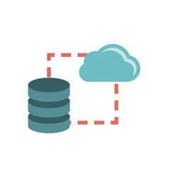 data storage sync icon vector image