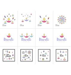 Happy diwali text design vector