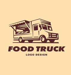 logos of food truck vector image