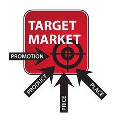 Marketing Mix Diagram vector image