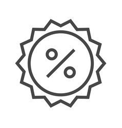 percent badge thin line icon vector image vector image