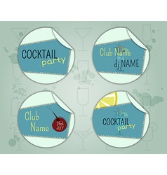 Summer cocktail party badge and label layout vector image