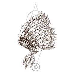 war bonnet native american indian headdress with vector image