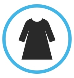 Woman Dress Flat Rounded Icon vector image vector image