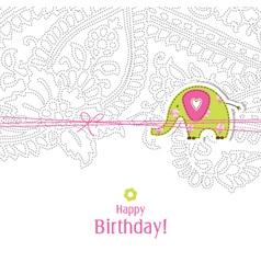 Birthday card vector image vector image