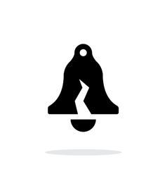 Damaged ringing bell simple icon on white vector