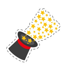 magician hat magical glow design vector image