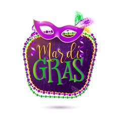 Mardi Gras holiday greeting vector image