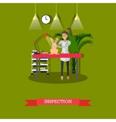 Medical inspection in vet clinic concept vector