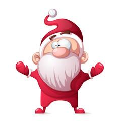 santa claus father winter - cartoon funny cute vector image vector image