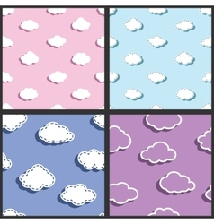sky textile fabric clouds pattern vector image