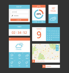 ui kit for website and mobile app designs vector image