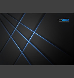 abstract blue paper art with blue light vector image