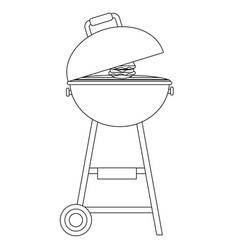 Barbecue grill cartoon vector