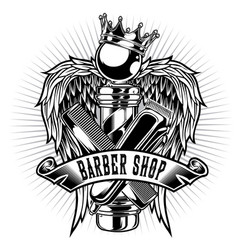 Barber sho hair salon hair stylist vintage king vector