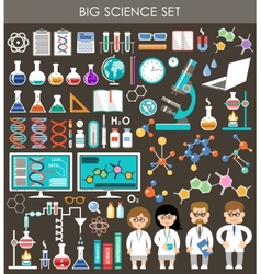 Big science set Infographics vector image