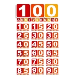 Big Set of Anniversary Label Sign for your Date vector image