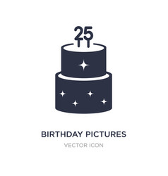 Birthday pictures icon on white background simple vector