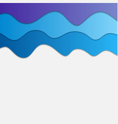blue waves abstract background for design cloud vector image