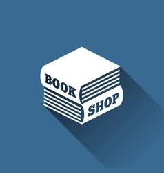 book shop logo vector image