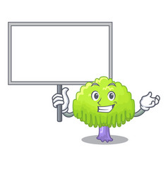 Bring board isolated weeping willow on the mascot vector