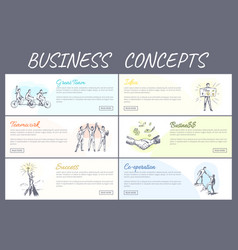 Business concept collection vector