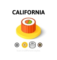 California icon in different style vector