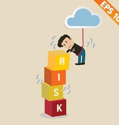 Cartoon Businessman with risk management concept vector