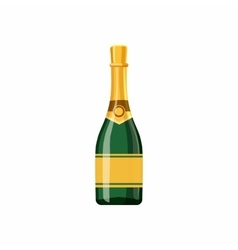Champagne bottle icon cartoon style vector image