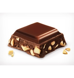 chocolate with nuts icon vector image