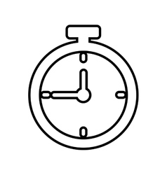Chronometer time silhouette icon graphic vector