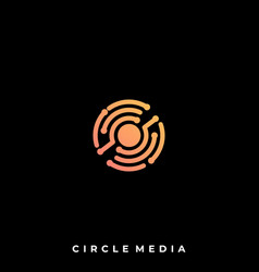 circuit circle design template vector image