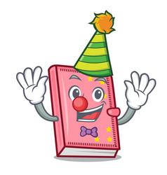 Clown diary mascot cartoon style vector