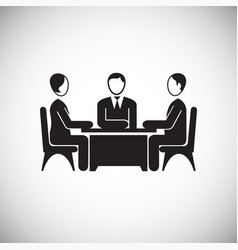 Collaboration meeting on white background vector