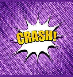 comic dynamic purple template vector image