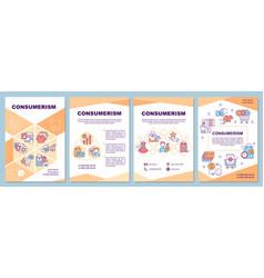 Consumerism brochure template vector