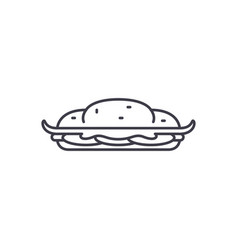 cooking cake line icon concept cooking cake vector image
