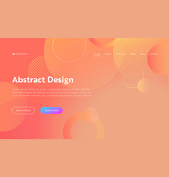 coral abstract circle shape landing page vector image