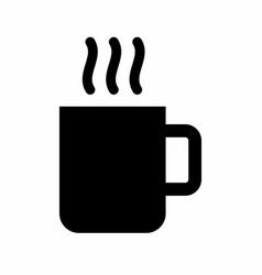 Cup dark silhouette vector