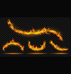 curved fire flame vector image