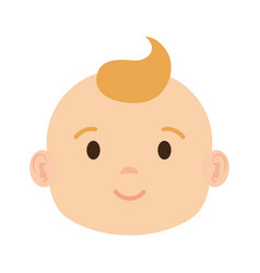 cute and little boy baby head character vector image