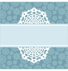 decorative Christmas background with snowflakes vector image