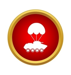 Delivery of military vehicle icon simple style vector image
