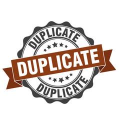 Duplicate stamp sign seal vector