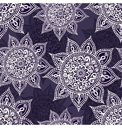 Ethnic seamless pattern with mandala and paisley vector image