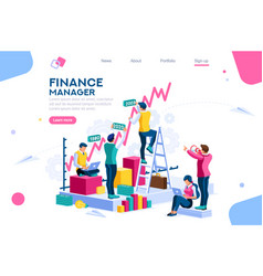 finance and engineering concept vector image
