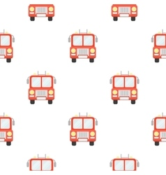 Fire truck icon cartoon pattern silhouette fire vector