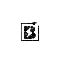 Flash logo initial b symbol electrical icon vector