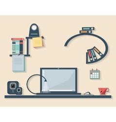 flat design business office vector image