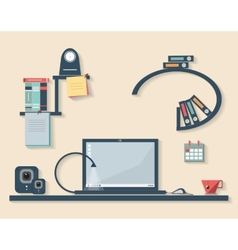 flat design of business office vector image